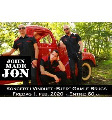 Billet til John Made Jon Koncert, 1 feb. 2020 kl. 21, 1 stk.