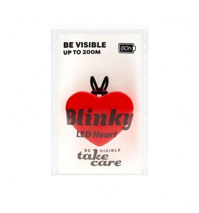 Blinky LED Heart Rød