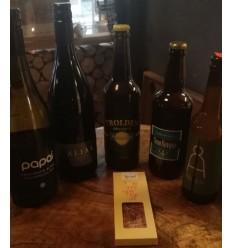 Goodie-Box med Vin, Specialøl og Choko 500 kr.