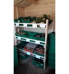 Pose med økologiske/biodynamiske grøntsager. SOLSKIN