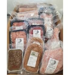 Påske-KØD-pakke med ca. 11 kg. kalkun og frilands-gris