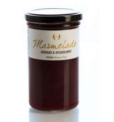 Marmelade med jordbær & Hyldeblomst