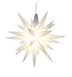 13 cm Hvid - Plast med LED - Herrnuterstjerne
