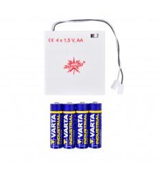 Batteriholder m/timer til én herrnhuterstjerne med LED