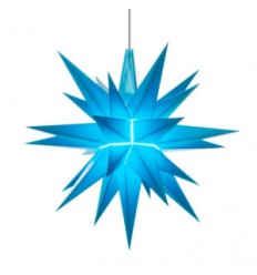 13 cm Blå - Plast med LED - Herrnuterstjerne