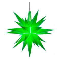 13 cm Grøn - Plast med LED - Herrnuterstjerne
