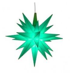 13 cm Mint - Plast med LED - Herrnuterstjerne