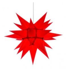 40 cm Rød - Papir - Usamlet - Herrnuterstjerne