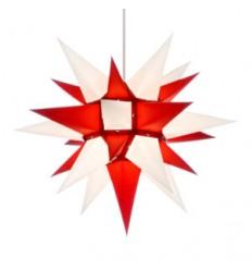 40 cm Rød og Hvid - Papir - Usamlet - Herrnuterstjerne