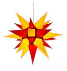 40 cm Gul og Rød - Papir - Usamlet - Herrnuterstjerne