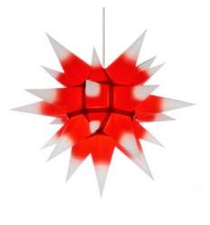 40 cm Hvid med rød kerne - Papir - Usamlet - Herrnuterstjerne