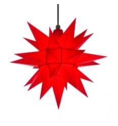 40 cm Gul og Rød - Plast - Usamlet - Herrnuterstjerne
