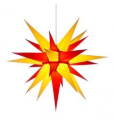 60 cm gul og rød - Papir - Usamlet - Herrnuterstjerne