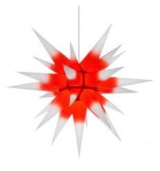 60 cm hvid med rød kerne - Papir - Usamlet - Herrnuterstjerne