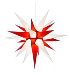 60 cm hvid og rød - Papir - Usamlet - Herrnuterstjerne