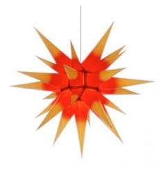60 cm gul med rød kerne - Papir - Usamlet - Herrnuterstjerne