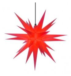 68 cm Rød - Plast - Usamlet - Herrnuterstjerne