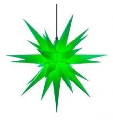 68 cm Grøn - Plast - Usamlet - Herrnuterstjerne