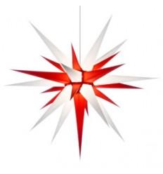 80 cm hvid og rød - Papir - Usamlet - Herrnuterstjerne