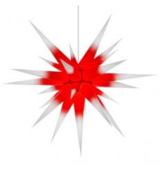 80 cm hvid med rød kerne - Papir - Usamlet - Herrnuterstjerne