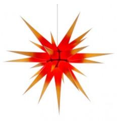 80 cm gul med rød kerne - Papir - Usamlet - Herrnuterstjerne