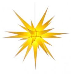 80 cm gul - Papir - Usamlet - Herrnuterstjerne