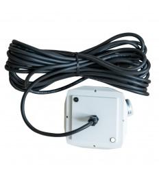 10 meter sort ledning - til udendørs brug til 130 cm - til Herrnhuterstjerne
