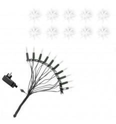 13 cm hvid stjernekæde med LED - Plast - Herrnhuterstjerner