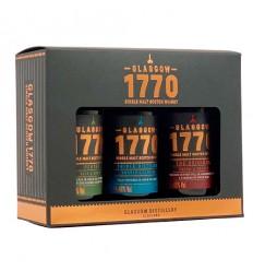 1770 Glasgow Whisky Gaveæske 3 stk. a 5 cl.