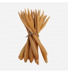 Gaffel, Bamboo, Natur, 12 stk., House Doctor
