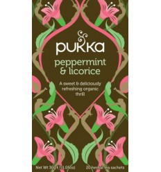 Pukka Peppermint & Licorice tea - ØKO