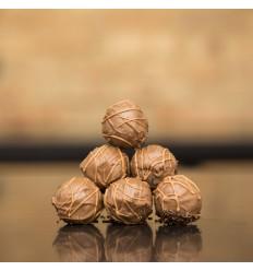 1 stk. Romkugle m. Cappucinochokolade, Nr. Aaby, Baks Bakery