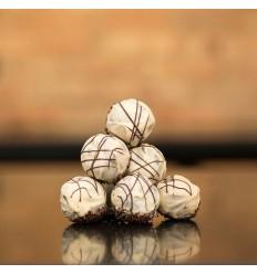 1 stk. Romkugle m. Hvid Lakrids-chokolade, Nr. Aaby, Baks Bakery