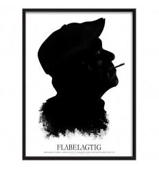 FLABELAGTIG Black Original – Grafisk hyldest til Danmarks elskede gavflab Kim Larsen