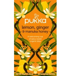 Pukka Lemon Ginger & Manuka Honey tea  Øko