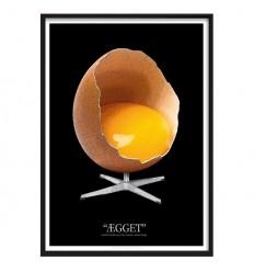 """""""ÆGGET"""" Black Original - Grafisk fortolkning af Dansk designklassiker"""