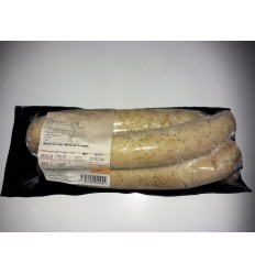 1 pakke pølser med ramsløg, sortbroget gris. SOLSKIN