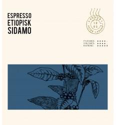 Espresso Etiopisk Sidamo Fairtrade kaffe, helebønner, 250 gram